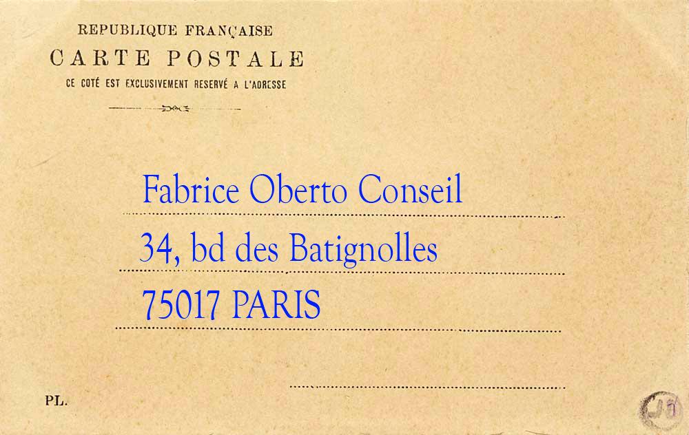 34, bd des Batignolles 75017 PARIS